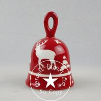 Christmas Ceramic Wholesale Christmas Reindeer Ceramic Table Bell Factory Supplier Manufactures
