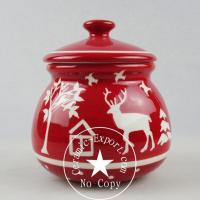 Christmas Ceramic Wholesale Christmas Reindeer Ceramic Sugar Pot Factory Supply Manufactures