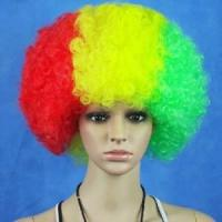 Hot Sale Football Fans Fun Afro Wigs Manufactures