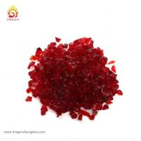 China Embedding Red Glass Chips in Outdoor Concrete Countertops on sale
