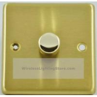 China Satin Brass 1 Gang 1 or 2 Way 400W Dimmer Switch G&H CSB11 on sale