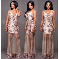Buy cheap Sexy Sequins Deep V Neck Clubbing Dressses from wholesalers