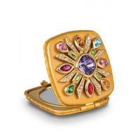 Schuyler Maltese Bejeweled Compact - Jewel Manufactures