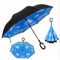 China Double Layer Inside Out C Shape Promotional Handle Reverse Umbrella Inverse Umbrella on sale