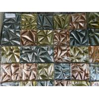 Buy cheap Square Shape Gold Foil Hand Printed Resin Mosaic Decoration from Mosaic from wholesalers