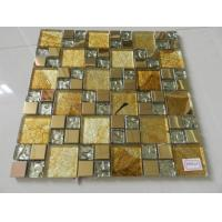 Buy cheap Mosaic Electroplated Metal Mixed Painting and Ceramic Mosaic Wall Decorate from wholesalers