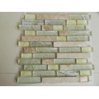 Buy cheap Mosaic Strip Travertine Mixed Glass Mosaic Tile for Wall Decorate from wholesalers