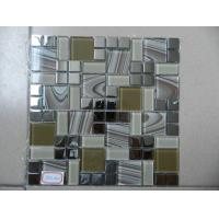Buy cheap Glossy Painting Metal Mixed Crystal Mosaic Wall Tile from wholesalers
