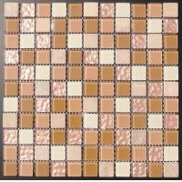 Buy cheap Mosaic 25x25 Stone Mixed Crystal and Resin Mosaic Tile Sheets from wholesalers