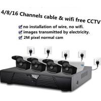 Cable free wifi free new cctv system 1080p 4 ipc one nvr plus net adapters