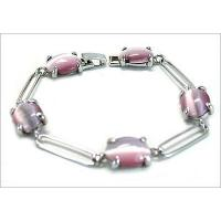 Cats-eye stone& tin casting bracelet