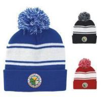 Buy cheap Headwear #26036 Striped Pom Pom Beanie from wholesalers