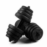 Gifts, Sports & Toys Black Rubber Coated Dumbbell