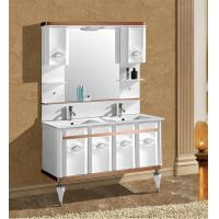 Buy cheap 120cm white double basin bathroom cabinet for saudi arabia from wholesalers