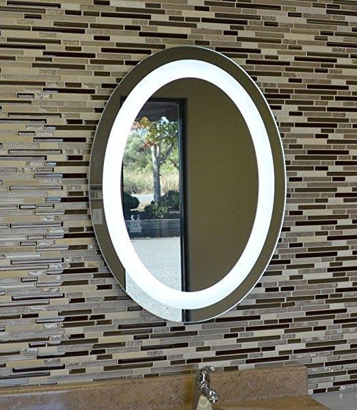 Quality 24 X 32inch Oval Back Lighted Wall Mounted LED Vanity Mirror for sale