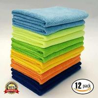 MaxLit- MicroFiber Cleaning Cloth 12 PC Color Pack, 16 x 16 in.