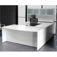 Buy cheap White U-Shaped Workstation w/Hutch from wholesalers