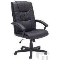 Buy cheap Ergonomic Chairs Pillow-Tufted Black Leather Managerial/Conference Office Chair from wholesalers