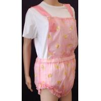 Pink PVC Bib Front Romper With Teddy Prints - Code PTRF - 1 Manufactures