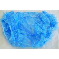 Blue PVC Pants With Double Leg Frill - Code B6 Manufactures
