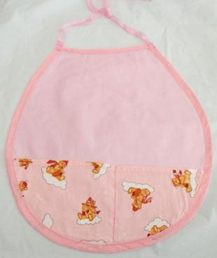 Quality Pink Bib With Printed Crumb catcher - BC 3 for sale