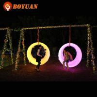 LED Swing Outdoor IP65 Waterproof Led Light Swing, Rgb 16 Colors Changing Led Swing Manufactures