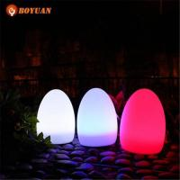 LED Ball Waterproof IP65 RGB Colors Rechargeable Floating LED Eggs Light Ball Manufactures
