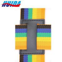 China Wholesale Alibaba Name Brand Webbing Luggage Rainbow Colors Belt With Plastic Buckle on sale