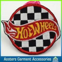Custom Felt Round Embroidery Badge Sew on Patches for Coat Manufactures