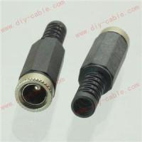 5pcs DC Power Female Jack Connector 5.5x2.5mm Adapter Plastic Handle Black Head Manufactures