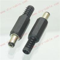5pc DC Power Male plug Connector 5.5mm x 2.5mm Adapter Plastic Handle Black Head Manufactures