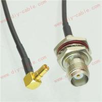 Buy cheap TS9 male right angle to TNC female jack RG174 cable jumper pigtail 15cm 3G modem from wholesalers
