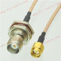 Buy cheap TNC female nut bulkhead to SMA male straight RG316 cable pigtail 15cm from wholesalers
