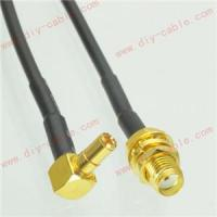 Buy cheap TS9 male right angle to SMA female jack RG174 cable jumper pigtail 15cm 3G modem from wholesalers