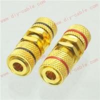 1 pair Solderless Speaker Terminal Binding Posts 4mm banana bulkhead Board mount Manufactures