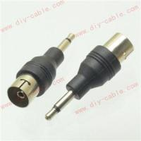 3.5mm Mini Plug adapter to IEC COAXIAL Female Jack 9.5mm TV Aerial Antenna 2pcs