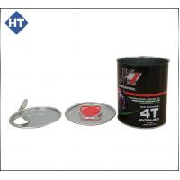 1 liter round cans with plastic cap or easy open tin lid