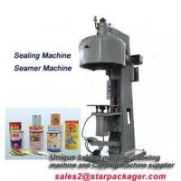 semi automatic aluminum can sealing machine for drink shop Manufactures