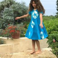 3 Tiered Short Sleeve Dress-Tie Dyed