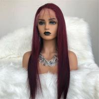Wigs 99J Color Brazilian Virgin Hair Full Lace Wigs Manufactures
