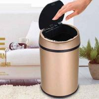 recycling trash can touchless motion sensor hands free stainless steel garbage organizer Manufactures