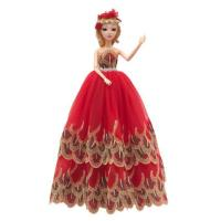 Handmade Fashion Party Gown Dress for Barbie Doll Xmas Gift