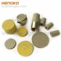 Porous Metal Filter Material Sintered metal brass bronze stainless steel venting wicking filter plug Manufactures