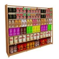 Buy cheap Single Side Shelves Steel Wooden Single-Sided Display Shelves from wholesalers