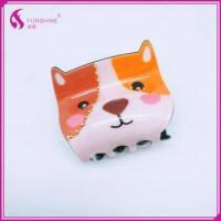 Custom Lovely Hair Accessories Acrylic Cellulose Acetate Tortoiseshell Engraved Bear Manufactures