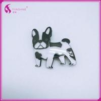 New style factory hair accessories acrylic hair clip kids cute animal dog print multicolor hair claw Manufactures