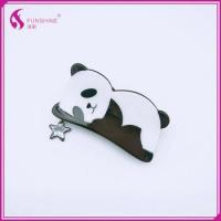 New style the panda shape acetate hair claw clips for baby girls women Manufactures