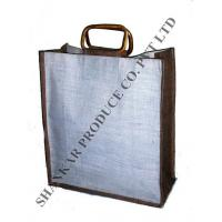Cane Handle Jute Shopping Bag Manufactures