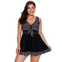 Buy cheap Products Large Size Conservative Split Skirt Swimsuit from wholesalers