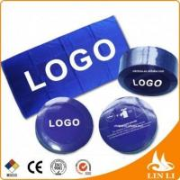 Buy cheap luxury quality 100% cotton velour reactive logo printed custom compressed towel magic towel from wholesalers